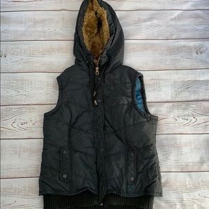 American Eagle Outfitters Navy Zip Up/Button Vest